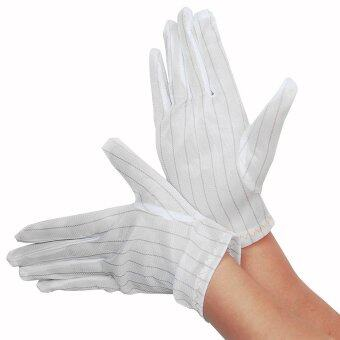 Harga 10 Pairs Without Dotted ESD/conductive Polyester Gloves (M Size)