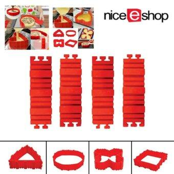 Harga niceEshop 4PCS Silicone Cake Molds,Nonstick Tray Flexible Cake Pan Magic Bake Snake DIY Baking Mould Tools - Design Your Cakes Any Shape