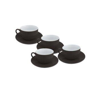 Harga Arabica 200ml Black and White Cup & Saucer
