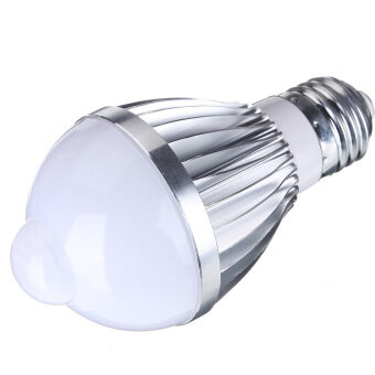 Harga E27 3W 5W 7W Auto PIR Infrared Motion Sensor Detection White LED Bulb Lamp Light (Pure White)