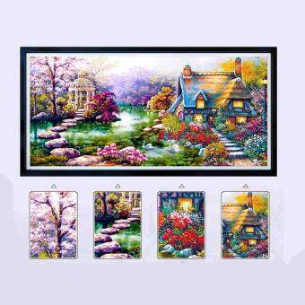 Harga Diamond Painting Diy 5d Diamond Paste Embroidery Landscapes Garden lodge