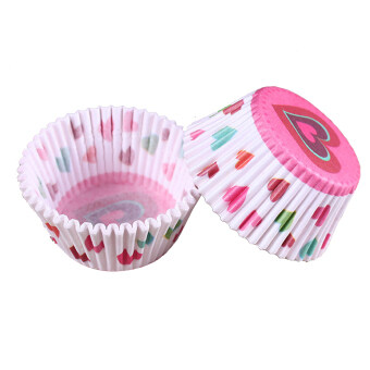 Harga 100 pcs/lot Cooking Tools Grease-proof Paper Cup Cake Liners Baking Cup Muffin Kitchen Cupcake Cases Cake Mold #7&white