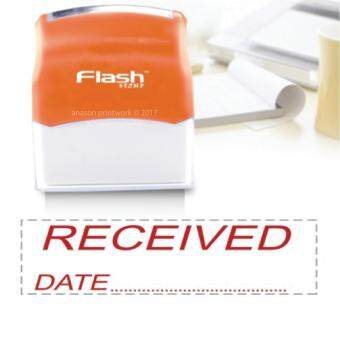 Harga READY MADE FLASH STAMP (RECEIVED) RED INK