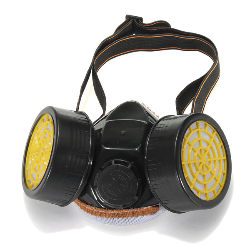 Buy Industrial Chemical Gas Anti-Dust Spray Paint Dual Respirator Mask With Goggle Malaysia