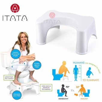 ITATA 47*32*21cm High Quality Ergonomic Hold Up to 300kg Weight Durable Use Hard Toilet Plastic Bathroom Sitting Children Pad Feet Toilet Steps Stool