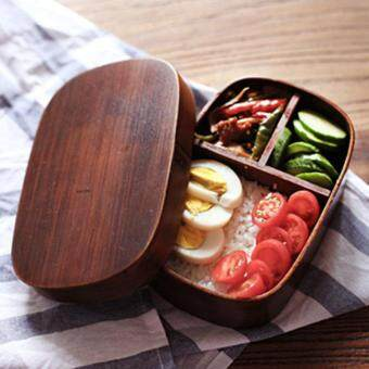 Japanese Bento Boxes Wood Lunch Box Handmade Natural Wooden SushiBox Tableware Bowl Food Container