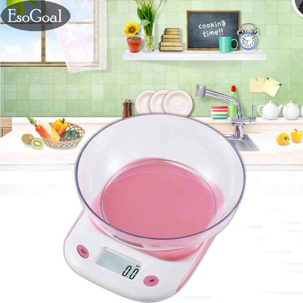 JvGood Digital Kitchen Scale, Protable Electronic Mini Food Scale With Scale  Tray,105.8oz/6.6lb/3kg Capacity,Pink Malaysia