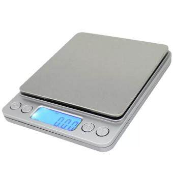 KCmall Spirit- Mini Electronic Digital Pocket Jewelry Scale /Kitchen Scale 0.01oz/0.1g 3000g Portable Balance LCD (Silver)