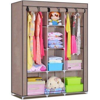 Harga King Size Multifunctional Wardrobe - Brown