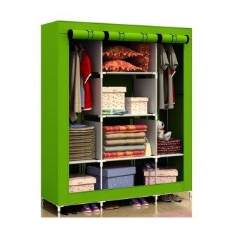Harga King Size Multifunctional Wardrobe - Green
