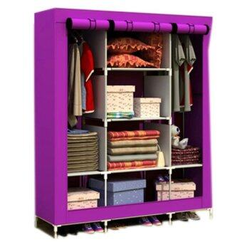 Harga King Size Multifunctional Wardrobe - Purple