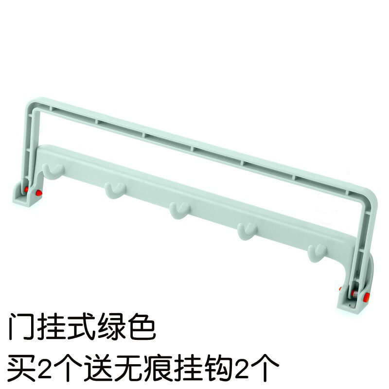 Kitchen free nail cabinet rack strong viscose door back-glove rack home-free drilling seamless nail door after Hook