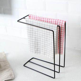 Kitchen Japanese-style wrought iron cloth drain water storage rack cloth drying rust-proof storage rack table put cloth rack