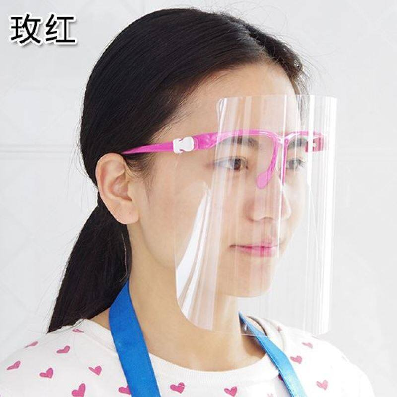 Buy Kitchen transparent anti-smoke mask protective mask for cooking anti-oil spill Mask Double-sided anti-fog anti-oil mask Malaysia