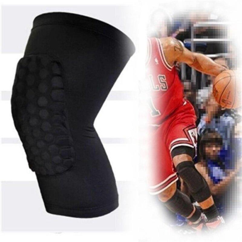 Knee Pad Protector Leg Patella Calf Support Guard Sleeve BraceSports Basketball (Black) M