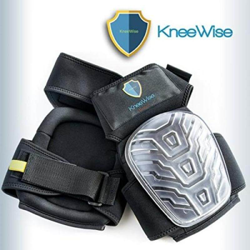 KneeWise Professional Knee Pads Heavy Duty EVA Foam Padding Comfortable Gel Cushion with Magnetic Tool Holder and New Adjustable NO SLIP Strap for Work Flooring Construction Gardening Tactical and DIY