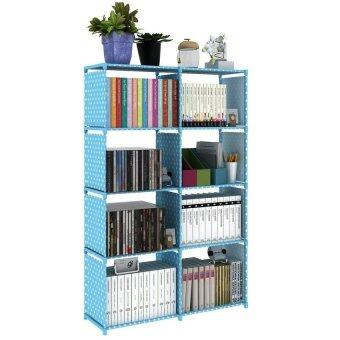 Korean DIY Book Storage 5 Tier with 8 Columns [Blue Dot]