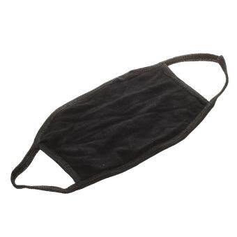 Lady Women Solid Black Ear Loop Face Mouth Mask Muffle - 4