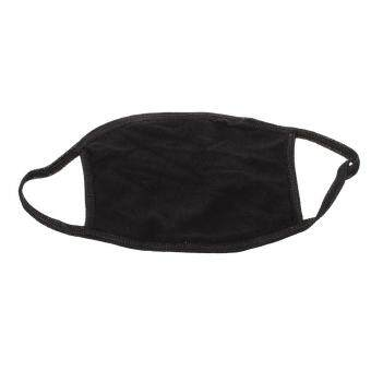 Lady Women Solid Black Ear Loop Face Mouth Mask Muffle - 2
