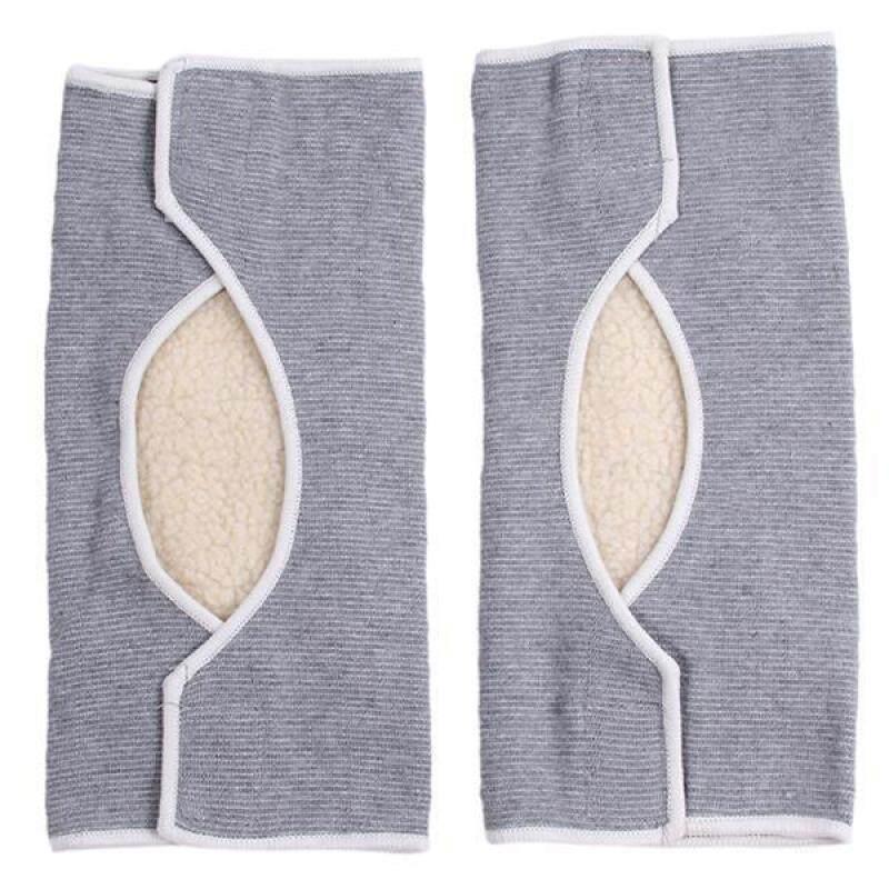 LALANG 1 Pair Knee Protector Warming Kneecap (Grey)