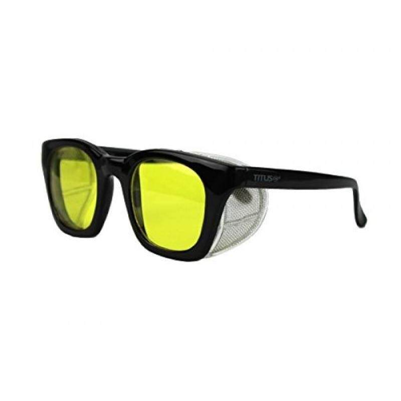 Buy [lamore]Titus G12 Retro Style Safety/Riding Glasses (With Pouch, Yellow Lens - Gloss Frame) Malaysia