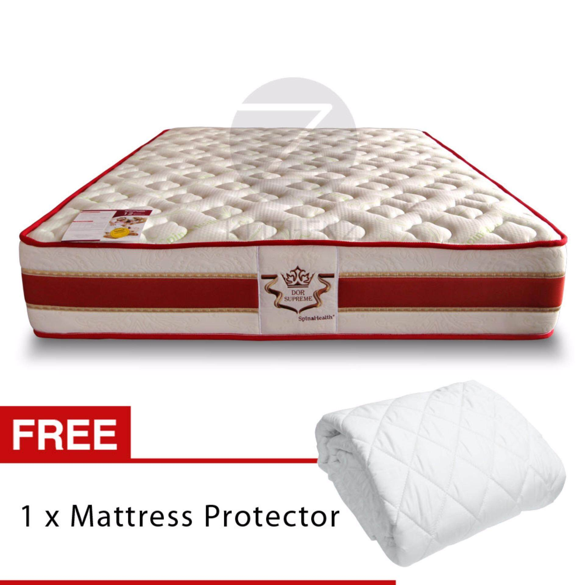 limited unit only homez series dor supreme 12inch 3zone individual pocket spring mattress queen size lazada malaysia - Spring Mattress