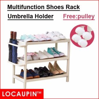 Locaupin Multi-Purpose Layer Home Storage Rack Storage Rack office Rack Umbrella Shelf Shoe Storage Umbrella Rack