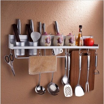 Harga luminum alloy kitchen rack, wall hanging kitchen and toilet hanger,knife holder, seasoning pot cover, kitchen pendant, hanging rod