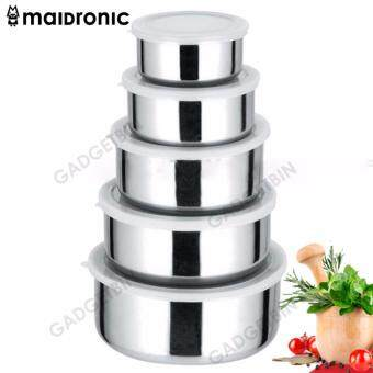 Maidronic 5 In 1 Stainless Steel Multiple Food Container Bento Lunch Box