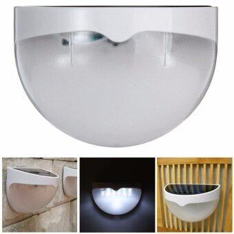 Marstec Quarter Ball 6 LED Light Control Solar Garden Light WaterResistant Outdoor Fence Security Lamp