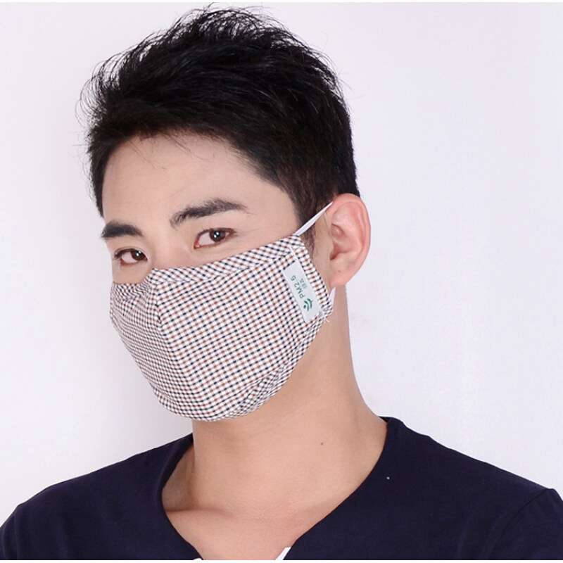 Buy Masks full cotton cloth for men and women winter riding anti-fog and haze PM2.5 anti-dust odor breathable black can be cleaning Malaysia