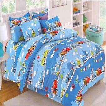 Matahari Fitted Bedsheet Set 100% Cotton -CAR(HOMEMADE)