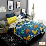 Maylee High Quality 4pcs Dinosaur Queen Bedding Set (FM-DINO)