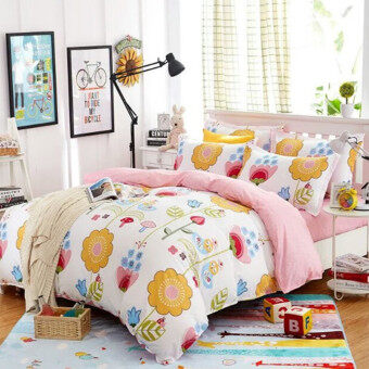 maylee high quality fashion 4pcs lovely flower queen bedding set fmlflo