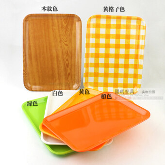 Melamine porcelain pallet plastic rectangular bread plate dish snack tray tray tray tray hotel rooms color