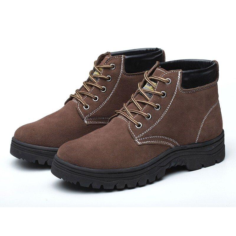 Buy Men Steel Anti-stab wear and site leather steel toe Malaysia