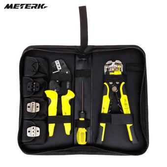 Meterk Professional 4 In 1 Wire Crimpers Engineering Ratcheting Terminal Crimping Pliers Bootlace Ferrule Crimper Tool