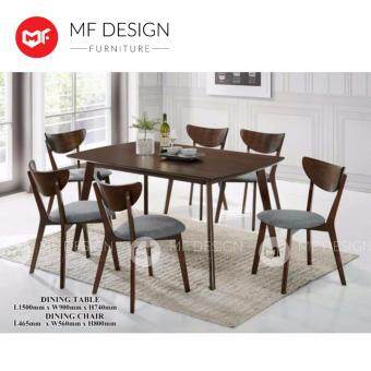 MF DESIGN ETHAN DINING TABLE WITH 6 CHAIR DINING CHAIR DINING SET 1+6