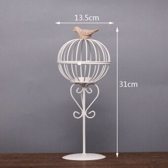 Sell Modern Romantic Home Dining Table European Style Wrought Iron Candlestick Retro Candlestick