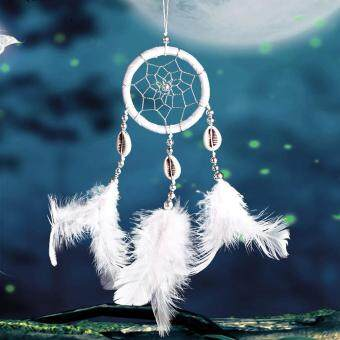Monocyclic Teeth Dream Catcher Wall Hanging Home Car Decor (White) - 5