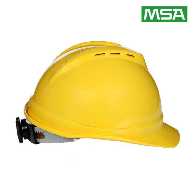 Buy MSA Mei Sian 500 luxury Type ABS helmet site construction leadership building engineering helmet breathable labor Malaysia