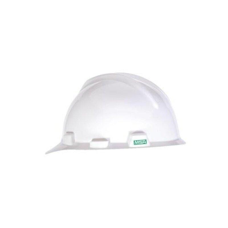 MSA V-Gard Cap. White. Fastrac Suspension (HDPE)