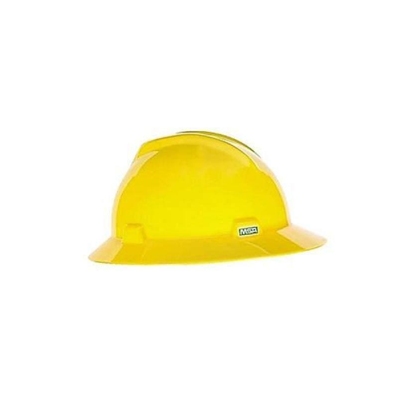 MSA V-Gard Hat. Yellow. Fastrac Suspension