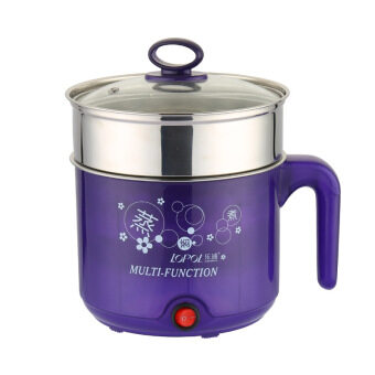 Harga Multi-function Stainless Steel Electric Cooker, Electric Cooker,Electric Hot Pot- Purple with Staniless Steel Steamer