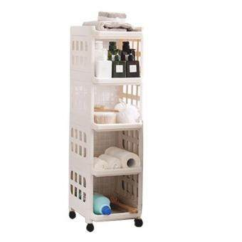 Multi-Purpose Layer Home Storage Rack Kitchen Storage Rack office Rack Kitchen Shelf--Beige color