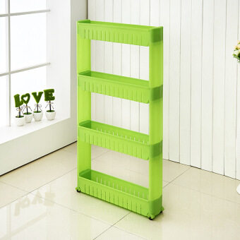 Multipurpose 4 Layer Kitchen Storage Organizer Rack (Green)