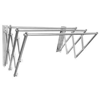 MyHome Stainless Steel Wall Mounted Retractable Racks (5ft) - 2
