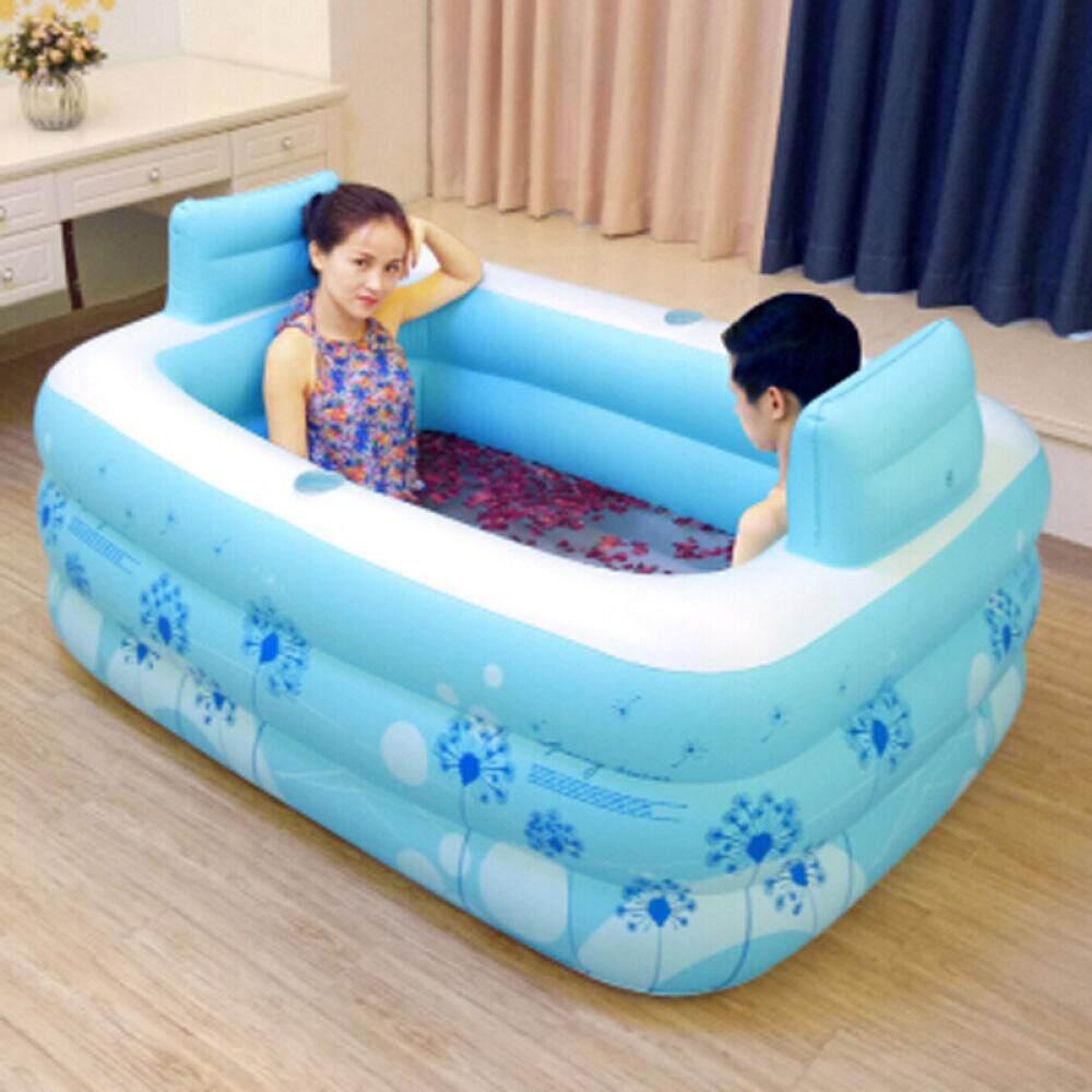 New Adult Double Bathtub PVC Portable Folding Inflatable Bath Tub ...
