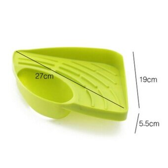 New Portable Kitchen Sink Corner Storage Rack Sponge Holder WallMounted Tool Green - 4