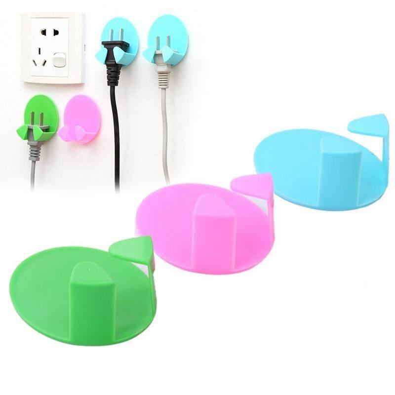 Buy New Practical Plug Socket Holder Socket Hook Rack Holder Hanger Home Wall Decor Organizer Random Color 2 Pcs Seamless Malaysia
